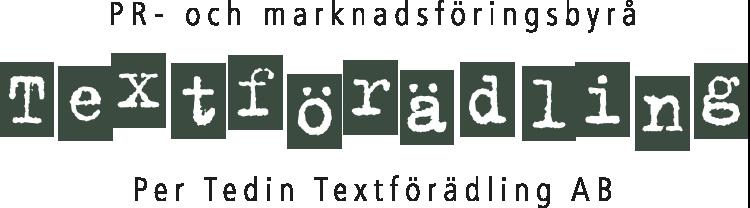 PR- och marknadsföringsbyrå Per Tedin Textförädling AB